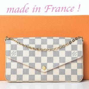 Louis Vuitton FÉLICIE POCHETTE Damier Azur Rose